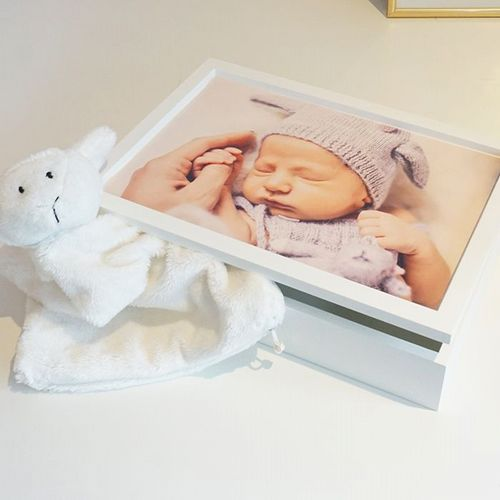 Wooden Photo Keepsake Box